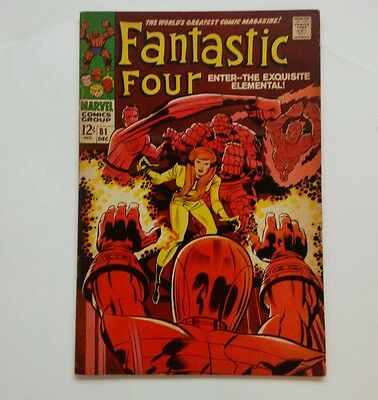 FANTASTIC FOUR #81 by Marvel Comics from 1966