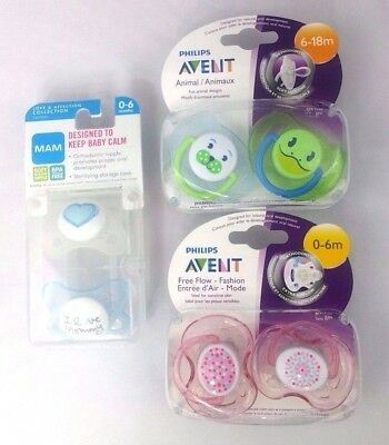 Philips Avent BPA Free Freeflow Pacifier, 0-6 Months 4 - MAM Pacifier 0-6 Mo 2