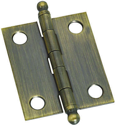 Stanley 803392 Decorative Ball Tip Ornamental Cabinet Hinge, 4 Hole, 1-1/2 in L,