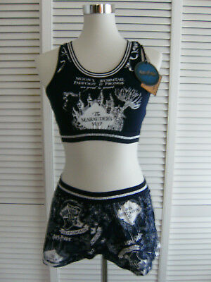 Pyjama Schlafanzug Shorts Bustier Top Harry Potter S 34/36 M 38/40 NEU