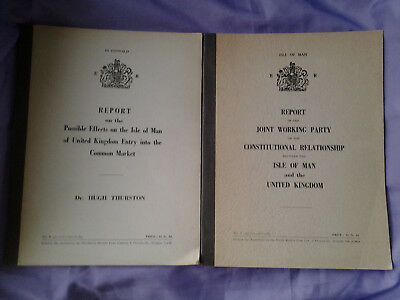 Two Vintage Tynwald (Isle Of Man Government) Reports