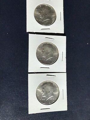 1964 Kennedy Half Dollars  Lot of 3  90% Silver  Free Shipping