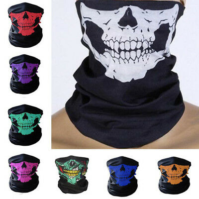 (3 in 1) Riding Scarf Warm Skull Face Mask Ski Winter Headband Cap Hat Outdoor