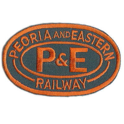 P/&E PEORIA AND EASTERN RAILWAY VINTAGE SEW ON NAME PATCH 2 X 3-12