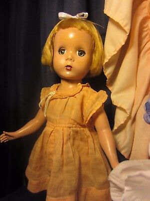 "Madame Alexander Doll ""Maggie"" 14 inches tall Early 1950's vintage hard plastic"