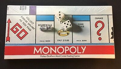 1975 Monopoly Board Game No.9 Real Estate Trading Game Parker Bros SEALED Vtg