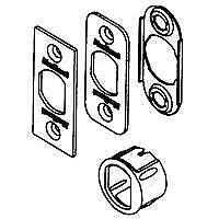 Kwikset 81844-001 6-Way Dead Latch Service Kit, Antique Brass, For 1-3/8 - 1-3/4