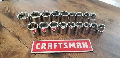 Craftsman 18pc 1/4-inch Drive SAE and Metric, 6 Point Socket  Set