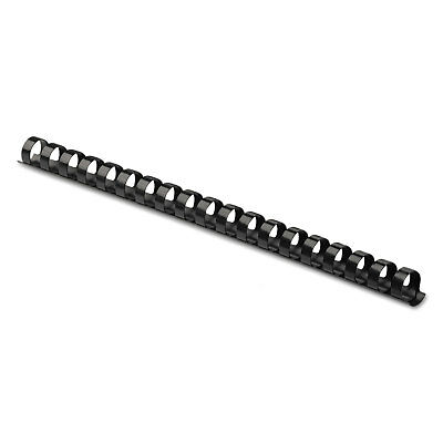 "Plastic Comb Bindings, 5/8"" Diameter, 120 Sheet Capacity, Black, 100 Combs/Pack"
