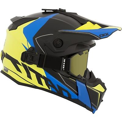 CKX - Titan Cliff Mat Yellow/Blue Modular Snow Helmet - 2X-Large
