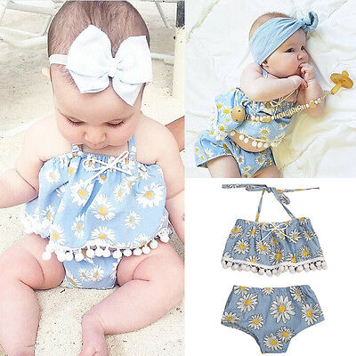 AU stock Newborn Infant Toddler Baby Girls Clothes Floral Kids Romper Outfits