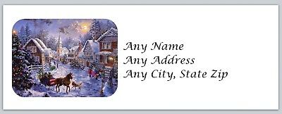 Personalized Address labels Christmas Cottage Buy 3 get 1 free (ac 458)