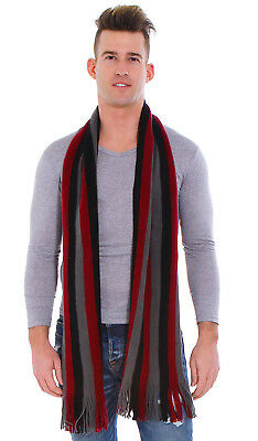 Men's Women's Stipe Knit Long Scarf Scarves Stole Soft Chirstmas Gift