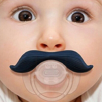 Funny Dummy Dummies Pacifier Novelty Teeth Moustache Baby Child Soother  Cute