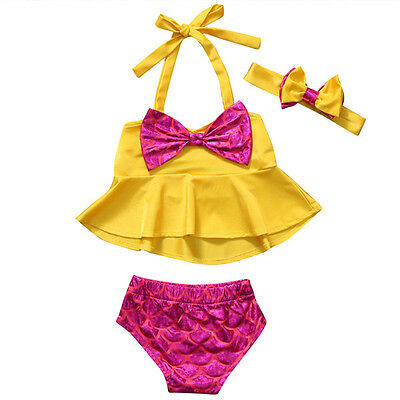 AU Stock Kid Baby Girls Tankini Bikini Swimwear Swimsuit Bathing Suit Beachwear