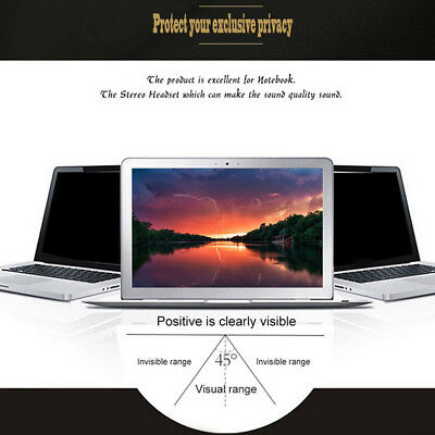 "14"" 16:9 Anti-spy Privacy Tempered Glass Screen Protector Fr Laptop Computer he7"