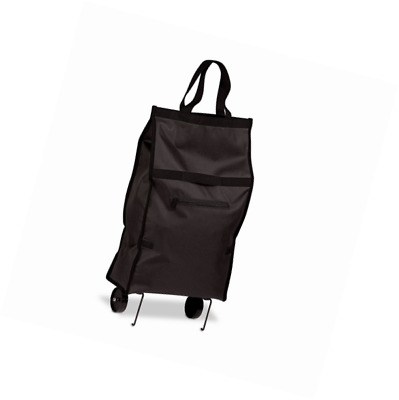 Honey-Can-Do CRT-05978 Fabric Rolling Bag Cart with Handles, Holds Up To 40-Poun