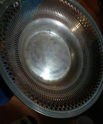 Sterling Silver woven table basket see pics SALE