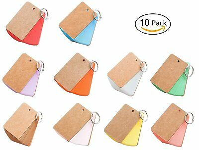 Blank Flash Cards Index Cards Note Cards with Binder Ring, Assorted Colors, 3.5