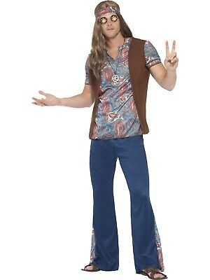 Orion The Hippie Man 60S 70S Retro Costume Fancy Dress Adult Disco Hippy Mens
