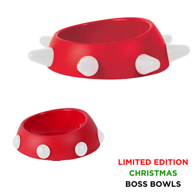 United Pets Boss Cat & Dog Bowl | Red & White