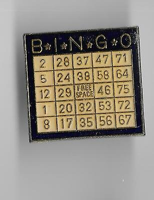 Vintage Bingo Card old enamel pin