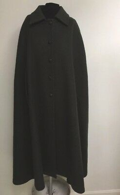 Vintage Wool Cape-Loden Army Green-Muhlberger-Maduson-Vienna-Excellent-Gorgeous!