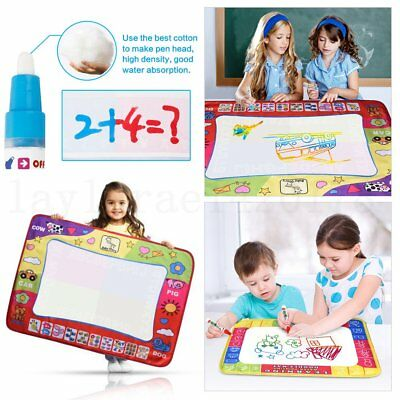Large Water Drawing Mat Painting Writing Magic Pen Doodle Board Kids Toy Gift