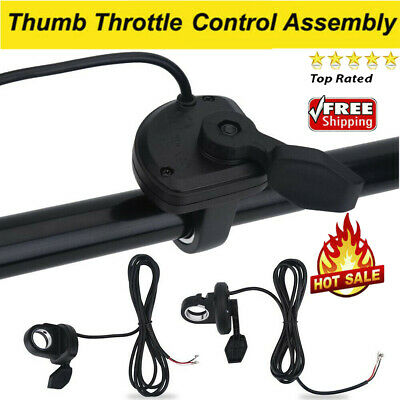 Thumb Finger Trigger Throttle Left Right Electric Bike Ebike Scooter Black GL