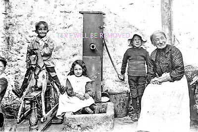 "CHILDREN ROCKING HORSE WATER PUMP POSS HUNGERFORD 1903 LARGE 9""x 6"" PRINT NEW221"