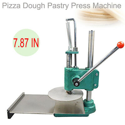 7.87in Pizza Dough Pastry Manual Press Machine Roller Sheeter Pasta Maker Stable