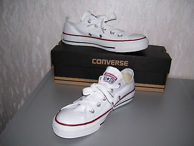 Converse All Star Chucks ox low weiß weiss optical white 36 37 38 39 40 41 neu