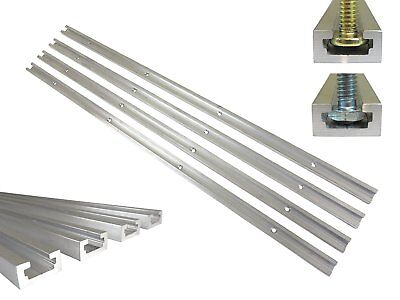 "Lot 4 Each, 36"" Aluminum T Track 3/4"" by 3/8"" Slot, Accepts 1/4"" Hex Bolts, 1/4"""