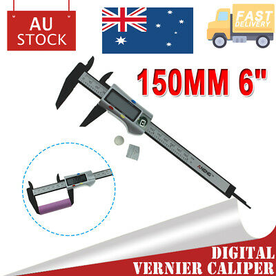 150MM Electronic Digital Vernier Caliper Stainless LCD Gauge Measuring Tool AU