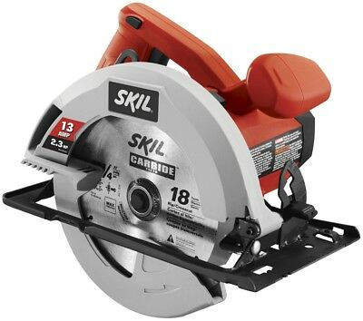Corded Circular Saw 13 Amp 7 1/4 In Powerful Motor Delivers 5300 RPM Portable