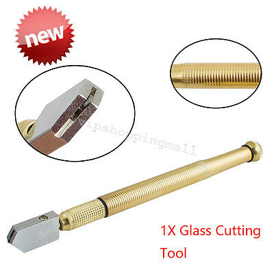 Compact Diamond Anti-Slip Metal Handle Steel Blade Oil Filled Glass Cutter Tool