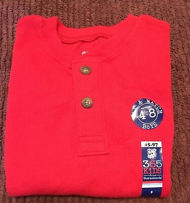 365 Kids Thermal Mix/match Long Sleeve Top, Boys size small, 4-8, New With Tags