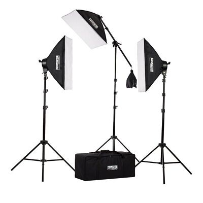 Fovitec 2500w Photography & Video Studio Lights & Boom Arm Softbox Lighting Kit