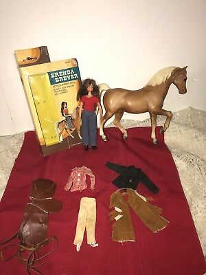 Vtg Brenda Breyer Lot Doll Accessories Horse Saddle Reins Boots Hat Box
