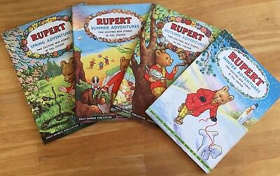 RUPERT Adventure Series x 4 32-35 Spring Autumn Summer Winter 1957 Ex-Shop Stock