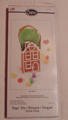 Sizzix Bigz 656301 Die Stanze Extra long Gingerbread House Bag Tasche NEU