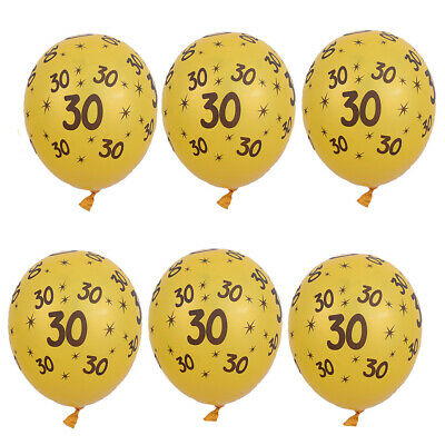 10x Gold Latex Balloons 30th 40th 50th Birthday Anniversary Party Supplies
