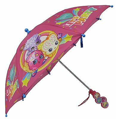 Shopkins Girls SPK Let's Party Pink Umbrella - Clamshell Handle - SPR73204ST