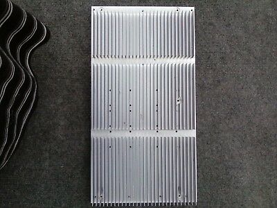 "•	Used large finned aluminum heat sink-- measure 15.5"" x 8.25"" x 1"""
