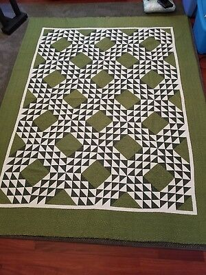 Stunning Vintage Antique Quilt Late 19th Century Harrison County Ohio
