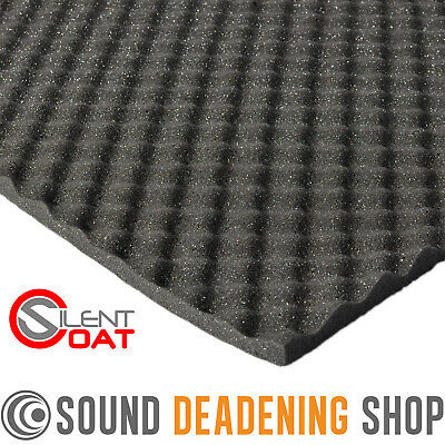 Silent Coat Absorber 15mm 4 Sheet Pack Sound Proofing Deadening Foam Tiles