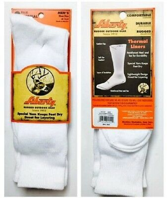 """Liberty """"Rugged Outdoor Gear"""", Thermal Liner Sock, 6 pair $15.99 +FREE SHIPPING!"""