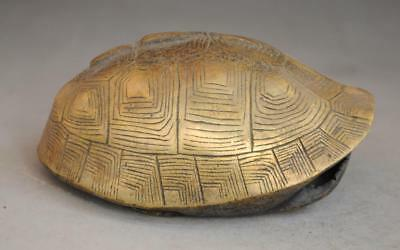 china old fengshui copper hand-carved gossip tortoise shell divination utensil