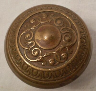 Antique Door Knob Brass Ornate Eastlake Craftsman Victorian