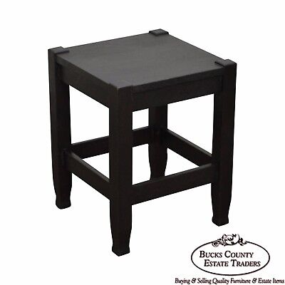 Stickley Brothers Quaint Antique Mission Oak Side Table Taboret